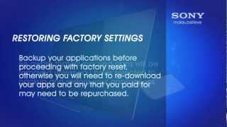 how to reset the sony internet tv with google tv device to the factory default settings