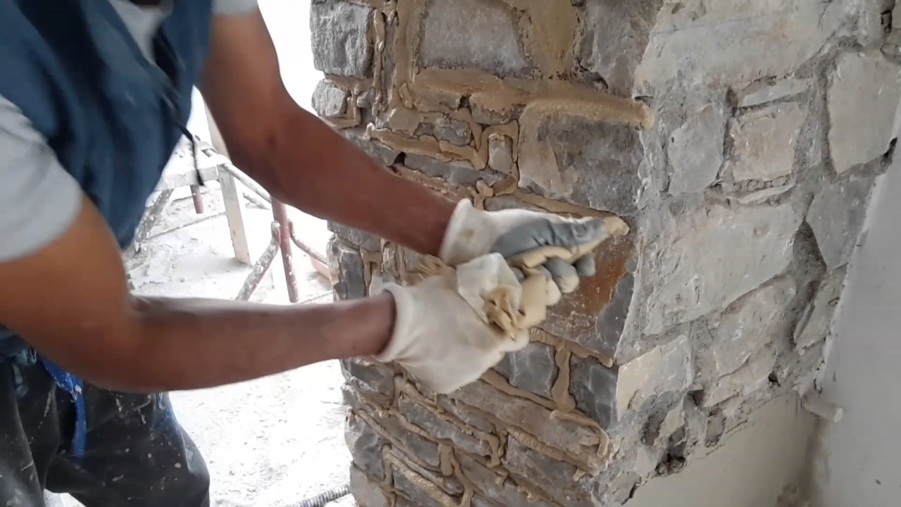 Bl designer pulitura e stuccatura pietra viva di montagna