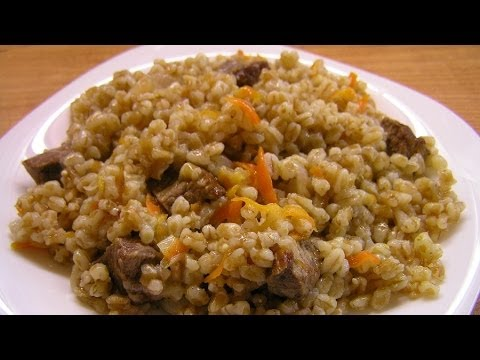 Пшеничная каша с мясом / How to make Wheat porridge with meat ♡ English subtitles