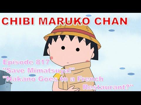 """Chibi Maruko Chan Eng Dub #817 """" """"Save Mimatsuya!"""" / """"Nakano Goes To A French Restaurant?"""""""