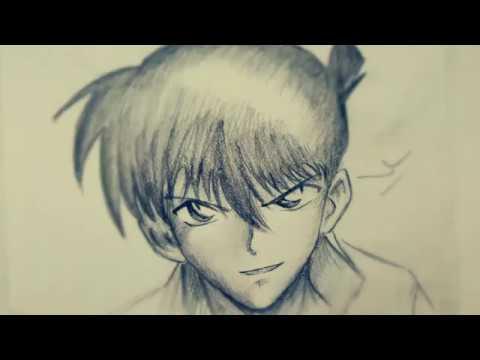 Học vẽ Kudo Shinichi (Thám tử lừng danh Conan) ||| HOW TO DRAW KUDO SHINICHI!!!