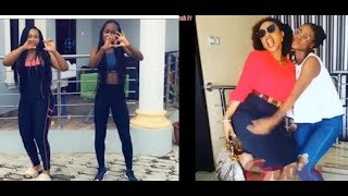 """Mercy Aigbe & Daughter Vs Iyabo Ojo & Daughter  Dance Competition To Drake's Song""""In My Feelings"""