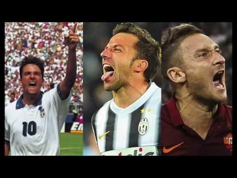 Baggio - Del Piero - Totti. The Three Legends