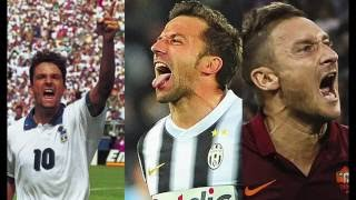 Baggio - Del Piero - Totti. The Three Legends