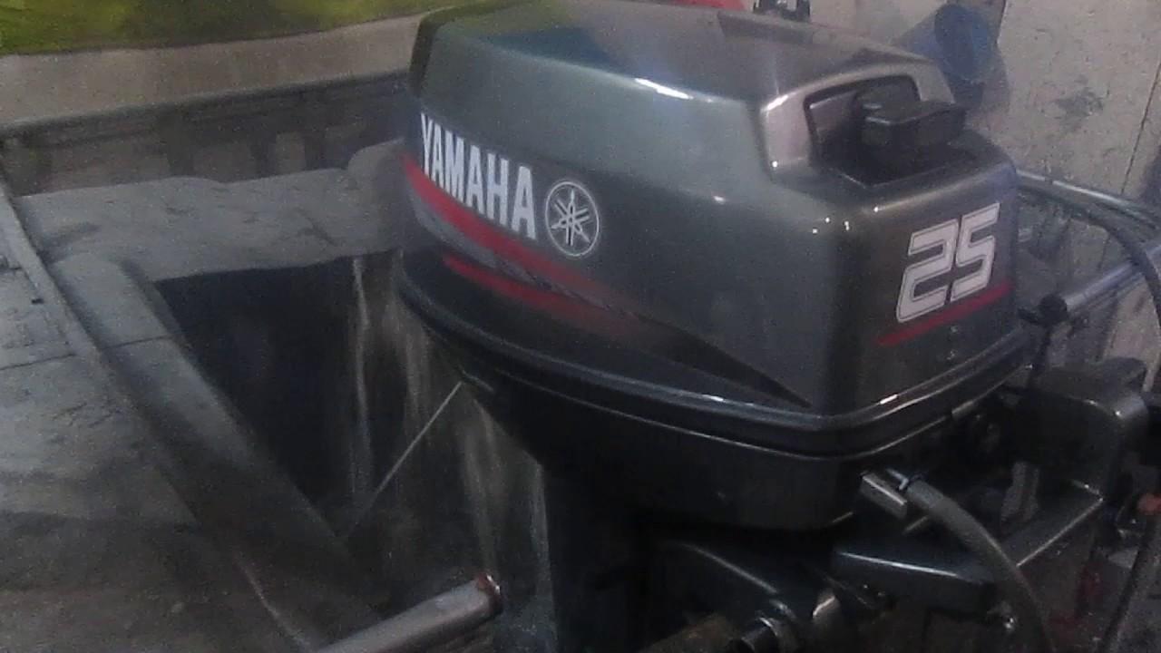 Мотор лодочный Yamaha 20, б/у 1998 г.в. - YouTube