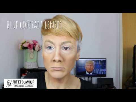 Donald Trump make-up transformation tutorial