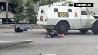 National Guard Trucks Run Over Protesters 2/2