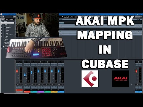 Mapping the Akai MPK MIDI Controller in Cubase 9.5