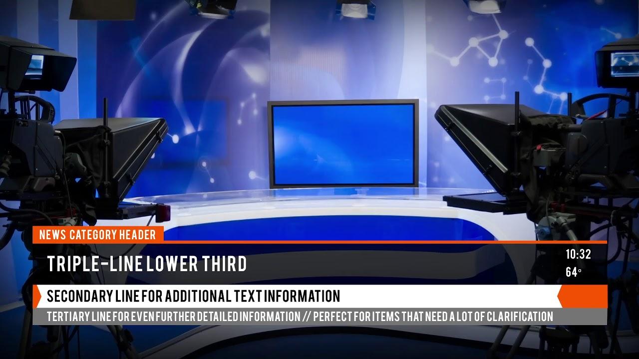 local news broadcast mogrt for premiere pro premiere pro. Black Bedroom Furniture Sets. Home Design Ideas