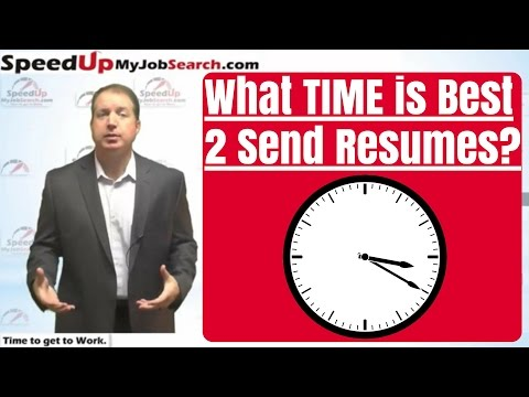 When is the Best Time of Day to Send Your Resume?  - 3:59
