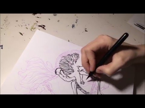 Sketch Chat: Inking w/ the Pentel Brush Pen
