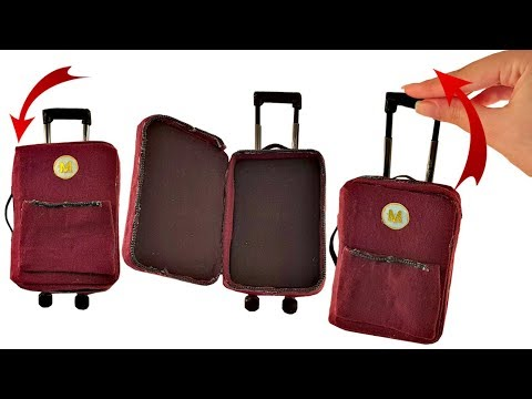 DIY Miniature ✫ Suitcase ✫ Tutorial   Crafts