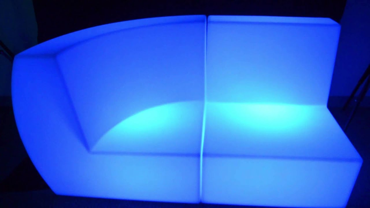 led sofa 2 piece couch youtube. Black Bedroom Furniture Sets. Home Design Ideas
