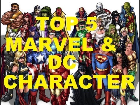 TOP 5 INCREDIBLE MARVEL AND DC CHARACTER in movies