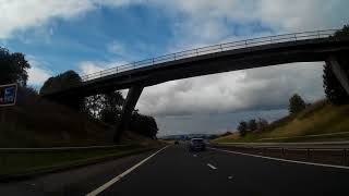 Drive To Moto Service Station Kinross Perthshire Scotland