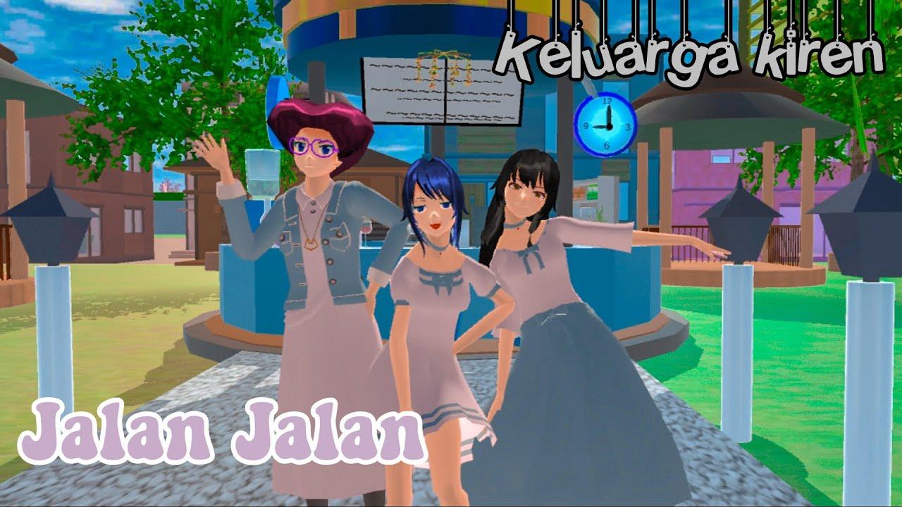 Jalan jalan | keluarga kiren | drama sakura school simulator