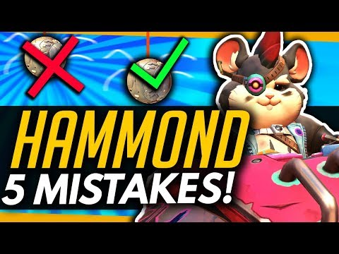 Overwatch | Top 5 Mistakes Hammond Players Make! (ft Eviltoaster)