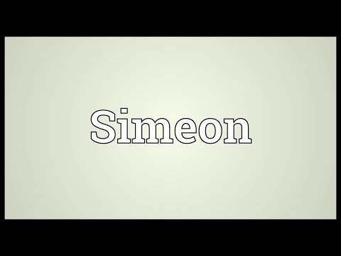 Simeon Meaning