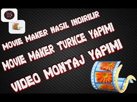 WINDOWS MOVIE MAKER TAM INDIRME/TÜRKÇE YAPMA/KULLANMA VİDEO  DUZENLEME PROGRAMI VIDEO EDIT