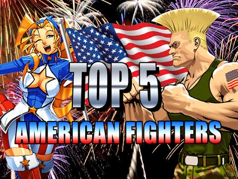 Top 5 American Fighting Game Characters Fighting Top 5 S Youtube