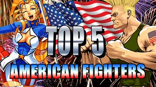 TOP 5 - AMERICAN FIGHTING GAME CHARACTERS: Fighting Top 5's