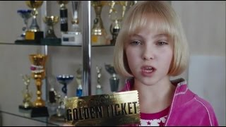 Charlie and the Chocolate Factory Violet Beauregarde Golden Ticket HD
