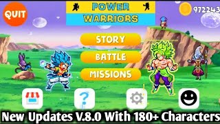 DOWNLOAD New Mugen Style Power Warriors V 8.0 APK For Android With New Menu And New Characters