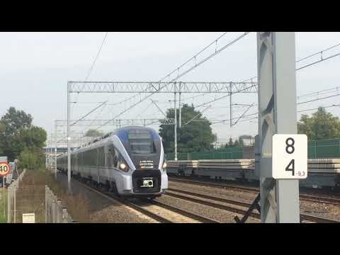 An intercity Train from Warsaw centre train station ~ Warszawa Centralna (centrum)