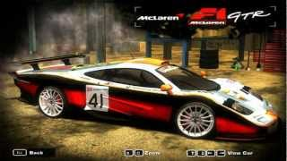 Need for Speed Most Wanted 2005 - McLaren F1 GTR Mod
