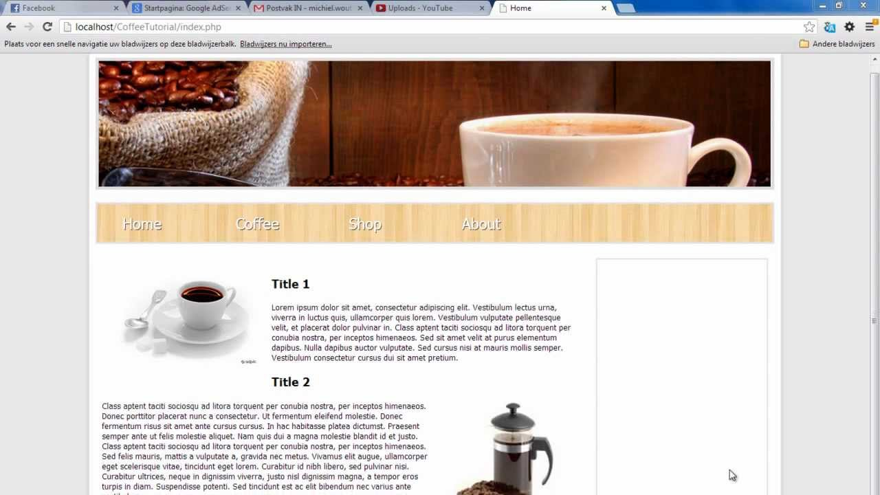 Create a website with php part 1 templates youtube maxwellsz