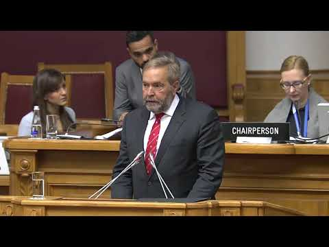 Debate on emergency item - 16 October - 137th IPU Assembly