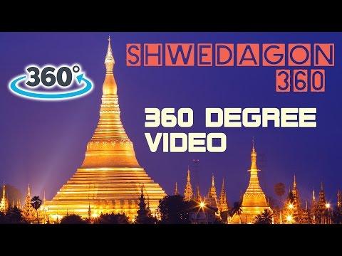 360° Video Tour: Shwedagon Pagoda Yangon, Myanmar (Burma) - Travel Tourism Video in Asia