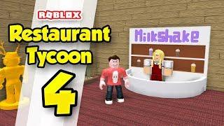 RESTAURANT TYCOON #4 - SELLING MILKSHAKES (Roblox Restaurant Tycoon)