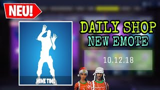 FORTNITE DAILY ITEM SHOP 10.12.18 | MIME EMOTE & WEIHNACHTS SKINS!!