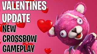 Fortnite - Valentines Update and News Roundup - New Crossbow Gameplay - Cupidon Character Skin