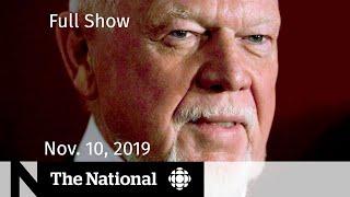The National for  Nov. 10, 2019 —   Don Cherry, Western alienation, Sesame Street turns 50
