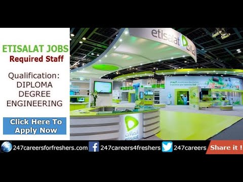 Etisalat Careers & Walk in Interview Guide for Freshers