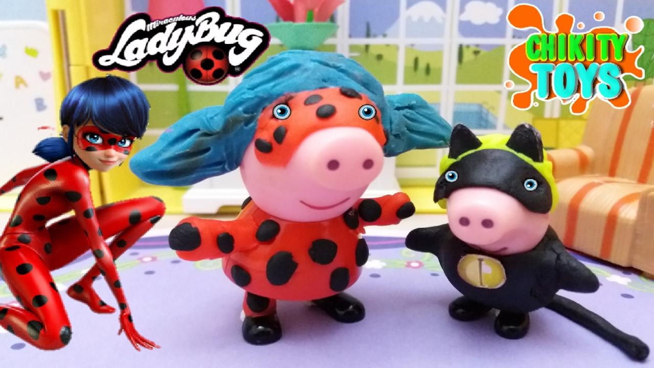 Peppa Pig Y George Son Ladybug Y Cat Noir Juguetes De Peppa Pig Juguetes De Ladybug