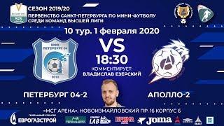ПЕТЕРБУРГ 04 2 АПОЛЛО 2 ВЫСШАЯ ЛИГА 2019 20