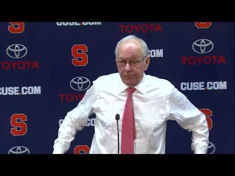Jim Boeheim vs Boston College Post Game