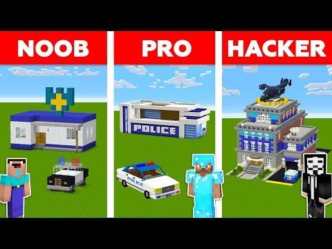 Minecraft NOOB vs PRO vs HACKER: POLICE STATION in Minecraft