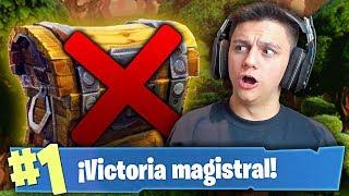 VICTORIA ÉPICA SIN ABRIR NINGÚN COFRE!! - Fortnite: Battle Royale