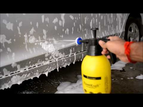 Foaming Car Using Pressure Spray Bottle without modification of Sprayer