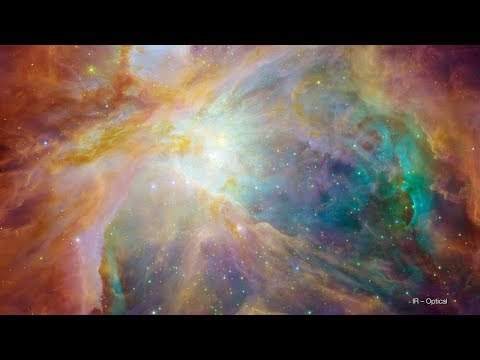 The Orion Nebula: Visible and Infrared Views [UltraHD]