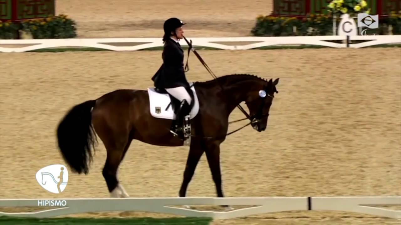 Atleta De Hipismo Paralímpico Controla Cavalo Sem Os Braços Youtube