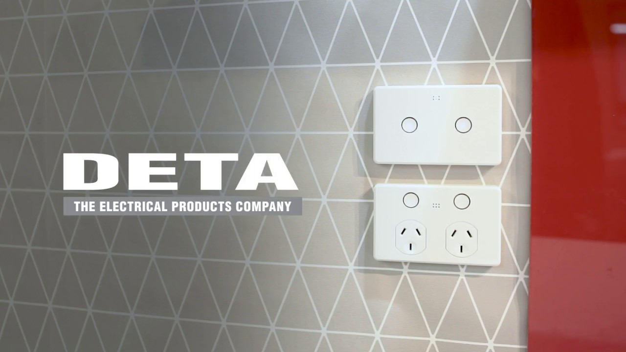 Deta Smart Double Gang Light Switch Touch Activated With Grid Connect