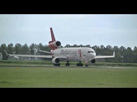 Martinair Cargo MD11F Spool Up & Take off - PH-MCP & PH-MCU - AMS