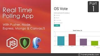 Node.js & Pusher Real Time Polling App [1] - Initial Back End