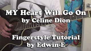 """My Heart Will Go On"" by Celine Dion - Fingerstyle Guitar Tutorial Cover (Free TABs)"