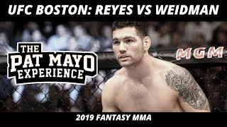 UFC Boston Picks and Predictions— Reyes vs Weidman DraftKings Picks & Fight Previews
